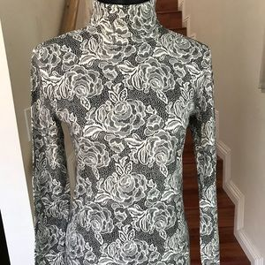 JONES NEW YORK floral print long sleeve top